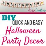 halloween party decor pin image