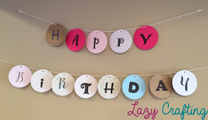 happy birthday circle banner with colors