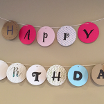 happy birthday circle banner
