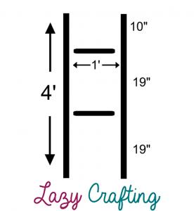 diy ladder dimensions