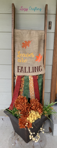 leaves are falling ladder