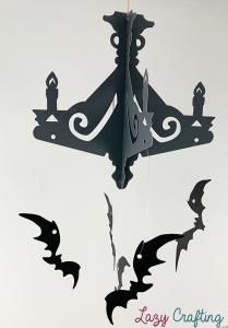 halloween chandelier side