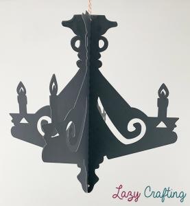 halloween chandelier front