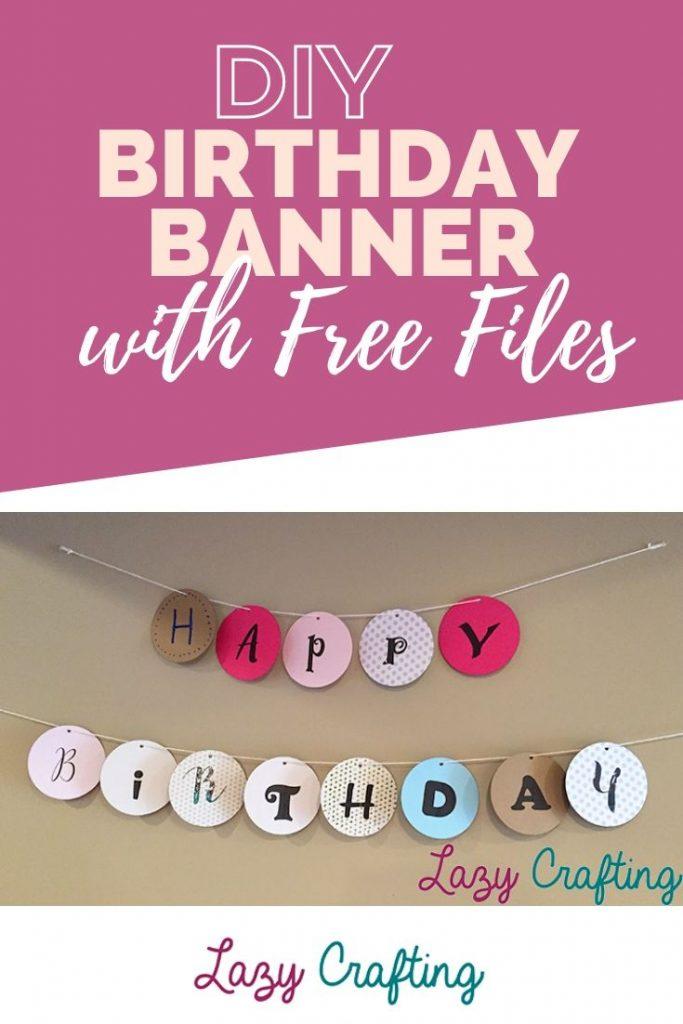 birthday banner pin