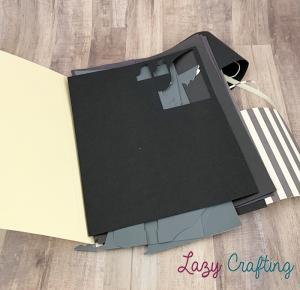 black scrap paper in manila folder