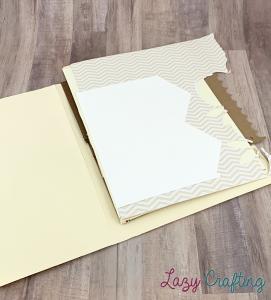 brown scrap paper in manila folder