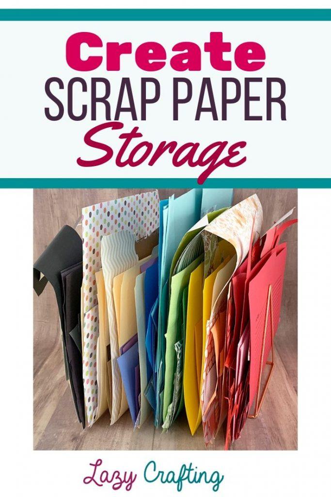 Scrap paper storage pin
