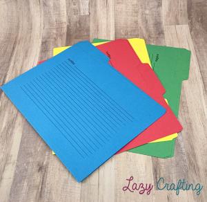 file folders in colors