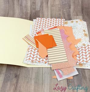 orange scrap paper in manila folder