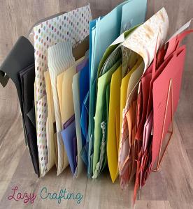 scrap paper organizer