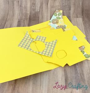 yellow scrap paper in yellow folder