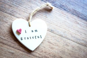 i am grateful heart ornament