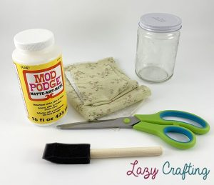 fabric covered jar supplies