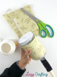 fabric jar edge glue