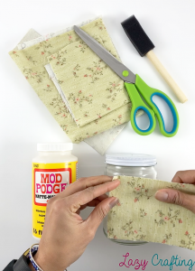 cover a jar in fabric