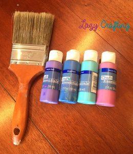 vision board paint supplies