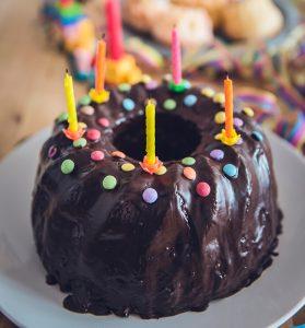 small chocolate birthday cake