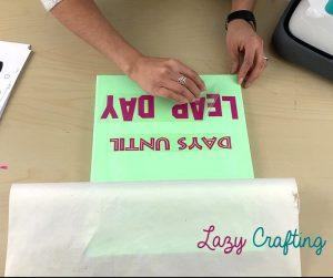 peeling htv carrier sheet