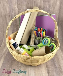 portable craft organizer basket