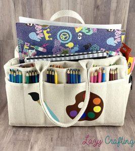 portable craft organizer canvas bag