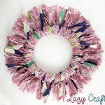 Easy Scrap Fabric Wreath