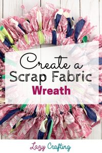 scrap fabric wreath pin image
