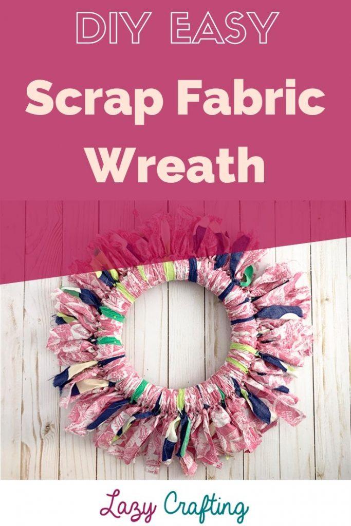 pin of fabric wreath