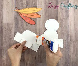Gratitude Turkey Craft gluing pieces